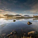 Scotland- Autumn Mist on Loch Ba by Angie Latham