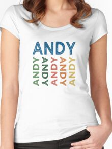 Andy Cute Colorful Women's Fitted Scoop T-Shirt