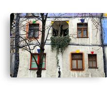 Windows of the Hundertwasserhaus Canvas Print