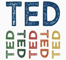 Ted Cute Colorful by Wordy Type