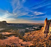 The Sawtooths and The Castle at Sunset (HDR) by Gary Cascio