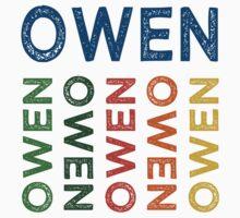 Owen Cute Colorful Kids Tee