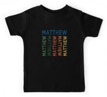 Matthew Cute Colorful Kids Tee
