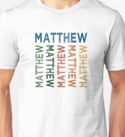 Matthew Cute Colorful Unisex T-Shirt