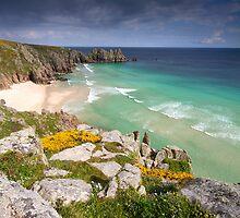 Cornwall - Atlantic Blues by Angie Latham