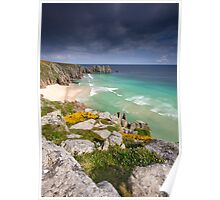 Cornwall - Atlantic Blues Poster