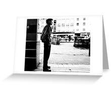 Smoking Man Greeting Card