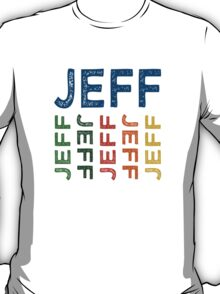 Jeff Cute Colorful T-Shirt