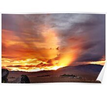 Palomino Valley Nevada Sunset Poster