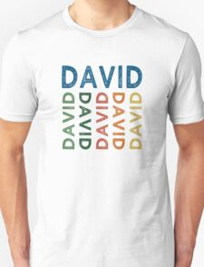David Cute Colorful T-Shirt