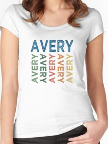 Avery Cute Colorful Women's Fitted Scoop T-Shirt