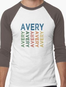 Avery Cute Colorful Men's Baseball ¾ T-Shirt