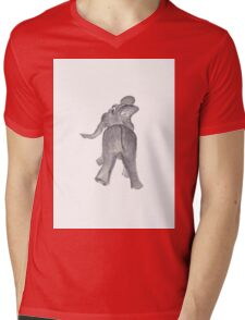 Ellie the Elephant Mens V-Neck T-Shirt