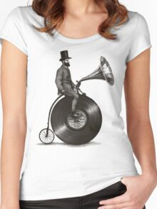 Music Man in the City Women's Fitted Scoop T-Shirt