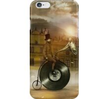 Music Man in the City iPhone Case/Skin