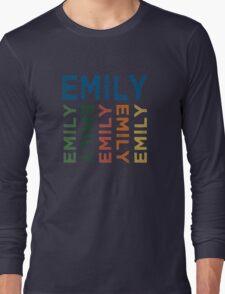 Emily Cute Colorful Long Sleeve T-Shirt