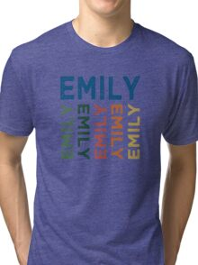 Emily Cute Colorful Tri-blend T-Shirt