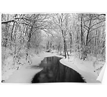 Wintry Creek Poster