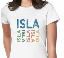 Isla Cute Colorful Womens Fitted T-Shirt