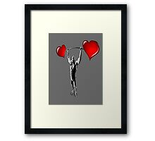 love is strong... Framed Print