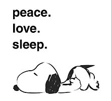 snoopy - peace love sleep by MCellucci