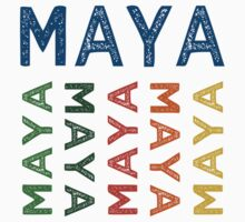Maya Cute Colorful by Wordy Type