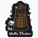 Hello Doctor Tennant (Sticker) by RebelArts
