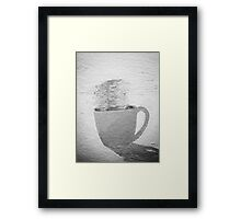 Black (and white) Coffee Framed Print