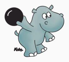 Bowling Hippo Kids Tee