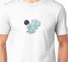 Bowling Hippo Unisex T-Shirt