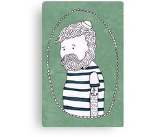 sad little sailor Canvas Print