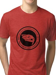 The Society of Palaeontology Fanciers (Black on Light) Tri-blend T-Shirt