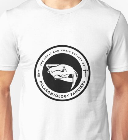 The Society of Palaeontology Fanciers (Black on Light) Unisex T-Shirt