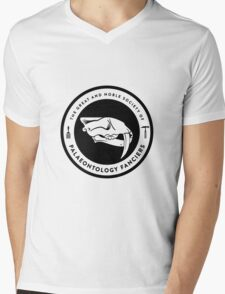 The Society of Palaeontology Fanciers (Black on Light) Mens V-Neck T-Shirt