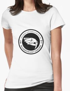 The Society of Palaeontology Fanciers (Black on Light) Womens Fitted T-Shirt