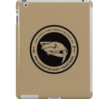 The Society of Palaeontology Fanciers (Black on Light) iPad Case/Skin
