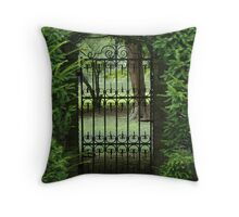 Meet Me By The Gate Throw Pillow
