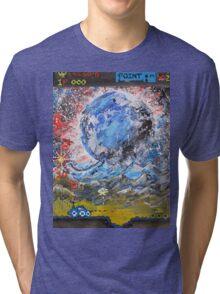 moon, retro, arcade, game Tri-blend T-Shirt
