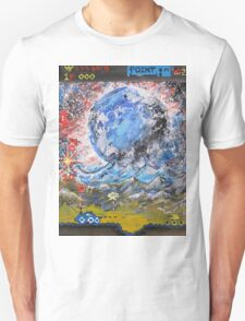 moon, retro, arcade, game T-Shirt