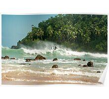 Surfing Mirissa Poster