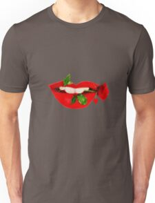 A TASTE OF LOVE- SEXY LIPS EXPRESSIONS-VARIOUS APPAREL..PILLOWS-TEE SHIRTS-TOTE BAG-JOURNAL -SCARF-LEGGINGS-ECT. Unisex T-Shirt