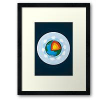 Earth Cake Framed Print