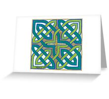 Celtic Knot, green Greeting Card