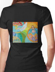 Surf Desert Off road Long sleeve Shirt design woodie Womens Fitted T-Shirt