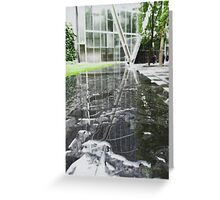 Broadgate Plaza Reflected Greeting Card