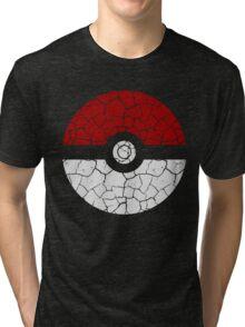 Cracked Poké Ball Tri-blend T-Shirt