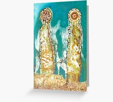 VU 129 Couple with Chain Mail Greeting Card