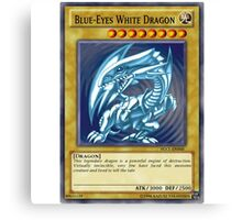 Blue Eyes White Dragon Canvas Print