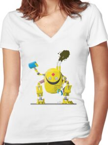 BY34R-D Women's Fitted V-Neck T-Shirt