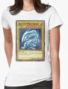 Blue Eyes White Dragon Womens Fitted T-Shirt